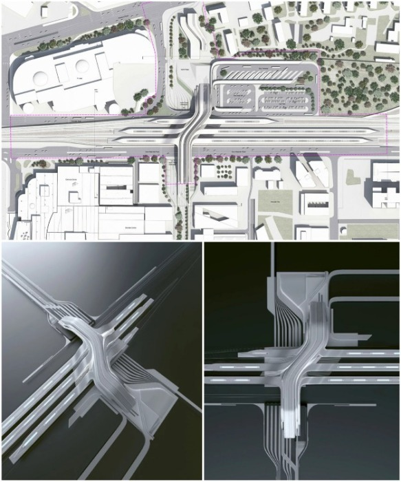 Вокзал Юлемисте станет мультимодальным транспортным узлом, который объединит автобусные, трамвайные и железнодорожные пути и магистрали (Таллин, Эстония). | Фото: archcollege.com.