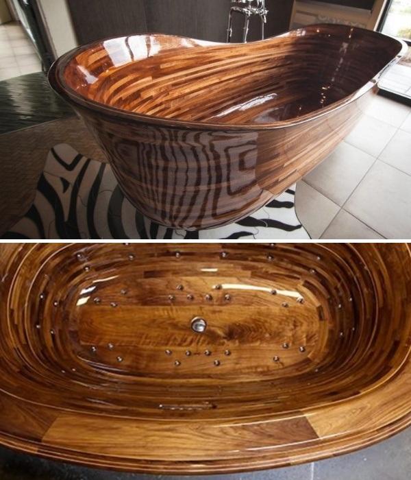 В деревянную ванну тоже можно устанавливать систему джакузи. | Фото: healthylivingidea.com.