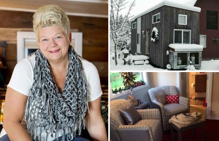 Мишель Бойль решилась на кардинальные изменения в своей жизни и построила собственный крошечный дом «My Empty Nest».   Фото: clubbeautiful.ru.