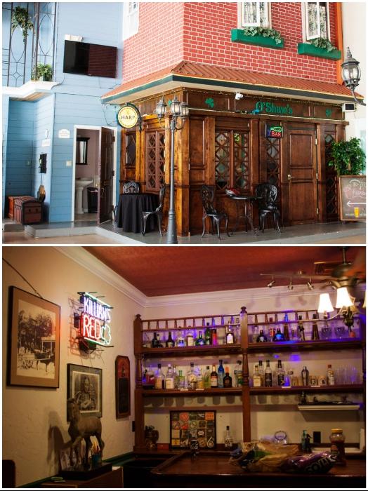В ангаре-городе есть свой ирландский паб, где можно отведать напитки и блюда популярные в 40-х гг. прошлого века («Danville», США). | Фото: orlandodatenightguide.com.