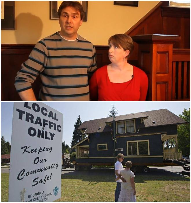 Супруги Бен и Джен Форд решились на покупку дома в Ванкувере и перевезли его в городок Union Bay (Канада). © Nickel Bros.