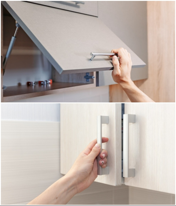 Ручка в кухонном гарнитуре – важная деталь в оформлении интерьера, необходимая для удобства пользования. | Фото: bestlifeonline.com/ ru.dreamstime.com.