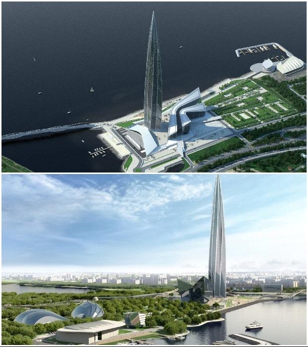 Благодаря инновационным технологиям удалось создать высотное сооружение с большим запасом прочности («Лахта-центр», Санкт-Петербург).