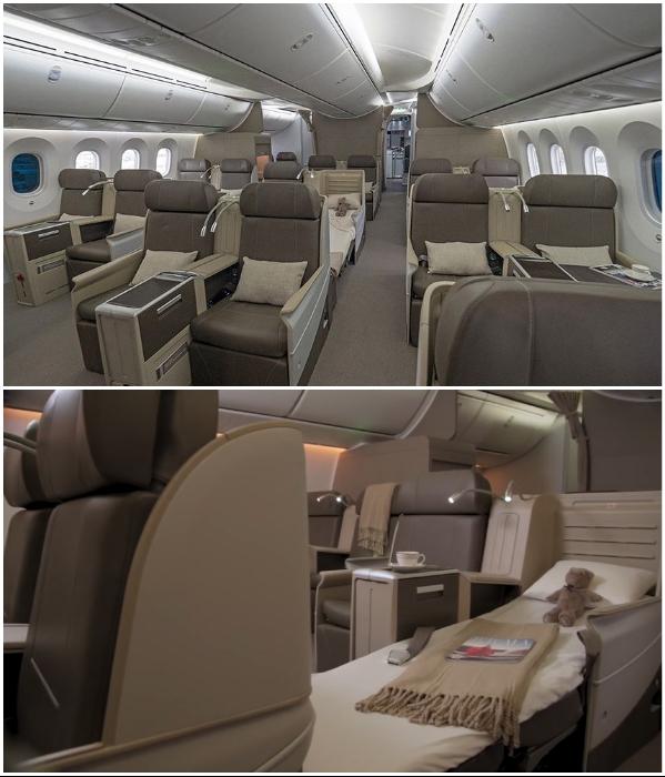 В общей каюте для сна расположено 18 полностью раскладывающихся кресел (VVIP Boeing787 Dream Jet).   Фото: kestrelaviation.com.