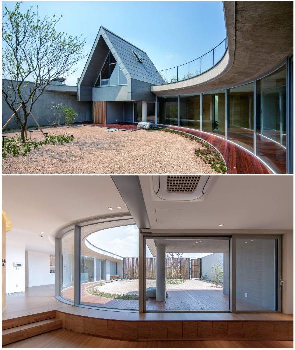 Внешняя закрытость частного особняка компенсируется полной открытостью жилого пространства (Walden House, Южная Корея).