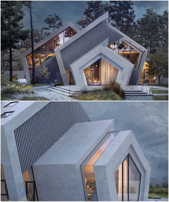 Pentahouse станет прекрасным домом для поклонников минимализма и любителей загородного отдыха (концепт Karina Wiciak).   Фото: successlifelounge.com/ © Wamhouse.