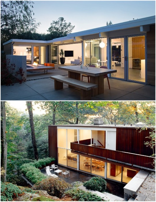 В середине прошлого века новая концепция стала очень популярна при строительстве загородных домов. | Фото: oldhouseonline.com.