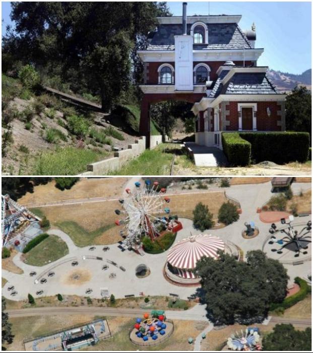 На территории ранчо создан настоящий развлекательный парк (Neverland, Санта-Барбара).