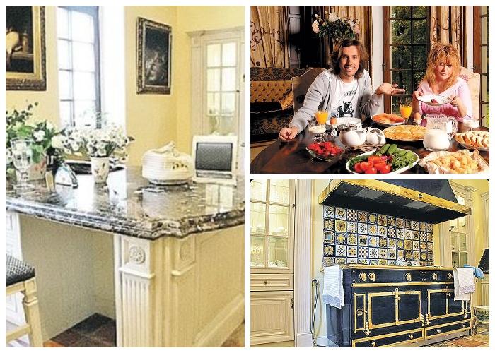 Главное достоинство кухни в замке Галкина и Пугачевой – тепло сердец хозяев.