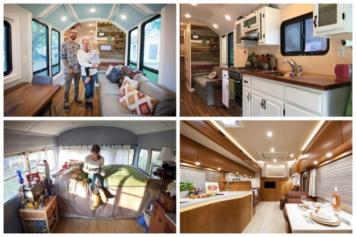 Можно превратить старый автобус в роскошный дом и в любой момент отправиться в бесконечное путешествие.