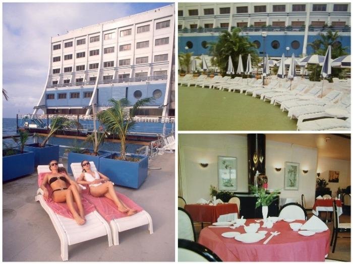 Эксклюзивные кадры из плавучего отеля, который всего лишь год простоял у берегов Австралии. | Фото: dailymail.co.uk.