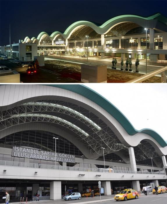 Терминал Международного аэропорта им. Сабихи Гёкчен в Стамбуле является одним из самых сейсмостойких сооружений мира (Турция). | Фото: ftproo.ucoz.com/ my-travel-diary.by.