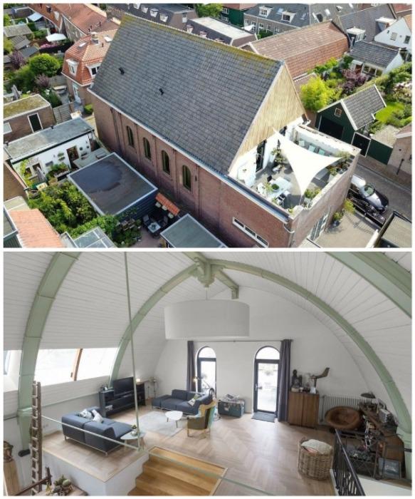 В городке Мейден старую церковь переделали в роскошную резиденцию с террасой на крыше (Нидерланды). | Фото: realt.onliner.by.