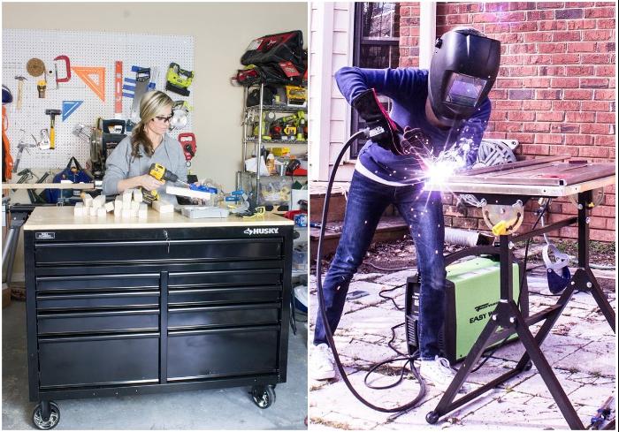 Эрин Спейн – не профессиональный столяр или дизайнер, она самостоятельно познает азы работы с инструментом и создает собственные дизайн-проекты. | Фото: instagram.com/ © erinspainblog.