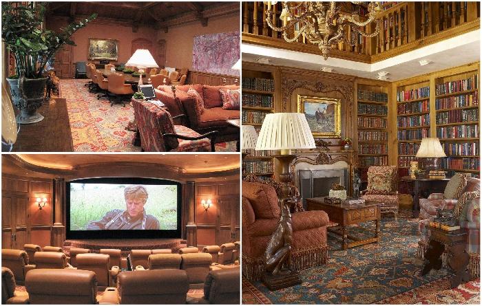 Апартаменты основного особняка под стать самому владельцу и его ранчо («Mesa Vista», США). | Фото: click2houston.com.