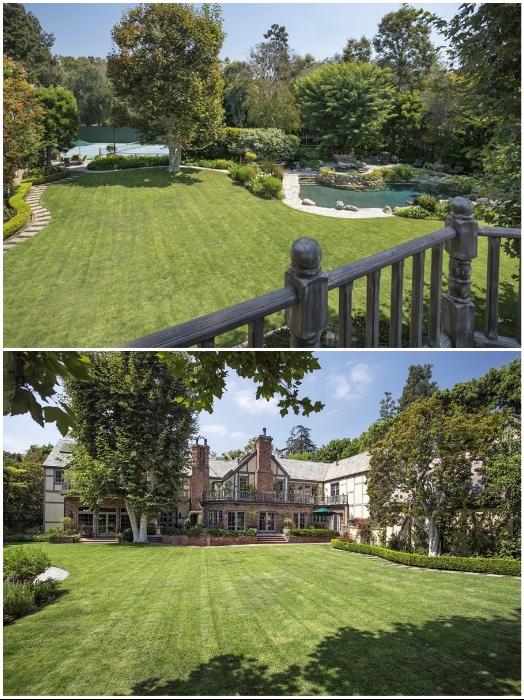 Тенистые сады, аллеи, лужайки и пруды украшают поместье «Warner Estate» в Беверли-Хиллз (Лос-Анджелес, США). | Фото: variety.com.