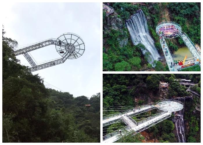 В долине Гулунся (Gulongxia) в провинции Гуандун открылась новая смотровая площадка (Китай). | Фото: 34travel.me.