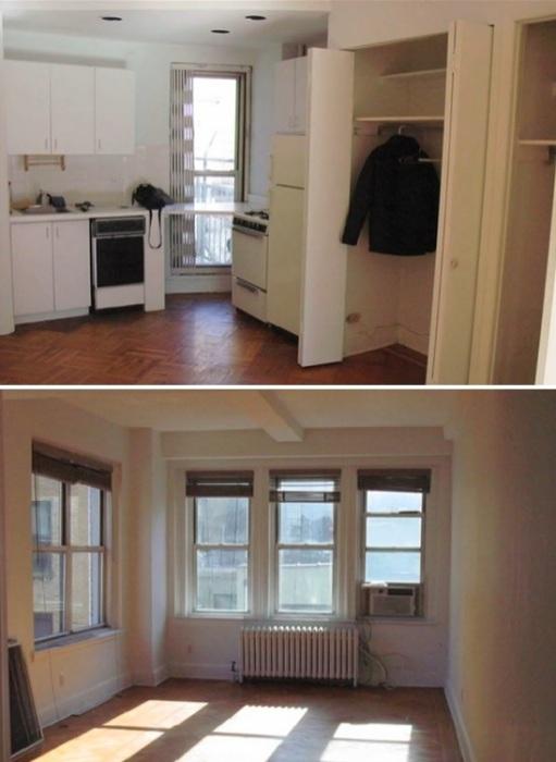 В таком состоянии была квартира, когда ее приобрел школьный учитель Эрик Шнайдер.