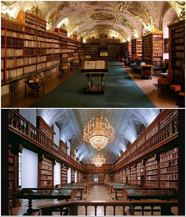 Несмотря на особую историческую ценность, библиотеку посещает около 6 тыс. читателей в год (Клементинум, Прага). | Фото: hi-travelly.ru.
