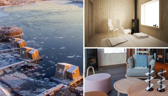 Интерьер плавающих номеров гостиничного комплекса «Arctic Bath». | Фото: swimmersdaily.com/ youtube.com, © Off the Map.