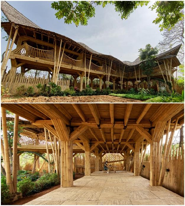 Школа будет иметь и открытые классы под зданием конференц-зала (Piyandeling, Индонезия).