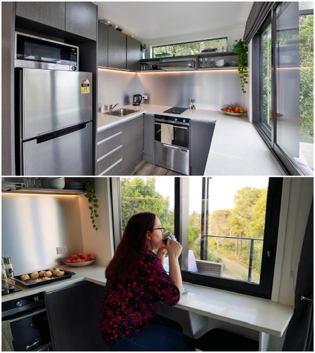Прекрасно оборудованная кухня-столовая будет вдохновлять на создание кулинарных шедевров. © IQ Container Homes.