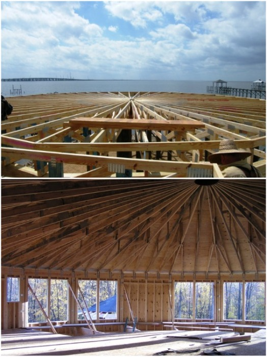 Купольная крыша позволяет не только противостоять ветру, но и сделать внутренне пространство более объемным (дом производства Deltec). | Фото: interestingengineering.com.
