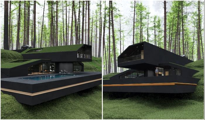 Black Villa планируют построить в Государственном парке Гарриман (концепт архитектора Reza Mohtashami).