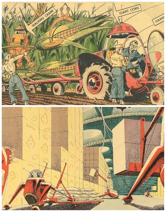Американские художники-ретрофутуристы так изобразили мечты аграриев.
