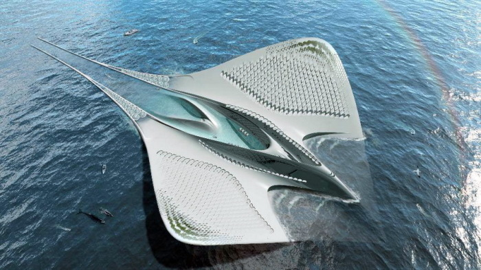 Концепт плавающего эко-дома Waternest 100, который разработал итальянский дизайнер Giancarlo Zema. | Фото: auto.mail.ru.