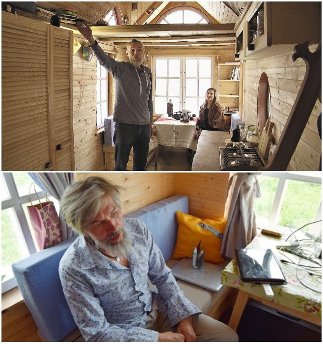 Александр и Селена в своем крошечном домике на колесах вместе живут только летом. | Фото: rustur.ru/ pro-insider.ru.