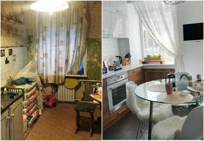 Даже самую «убитую» кухню можно превратить в конфетку, не прибегая к помощи дизайнера. | Фото: interesnoznat.com.