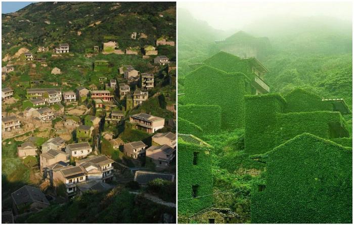 Как выглядела деревня Хоутоу Ван в 90-х гг. прошлого века и какой стала сейчас (Китай). | Фото: curious-world.ru/ billionnews.ru, © Jane Qing.