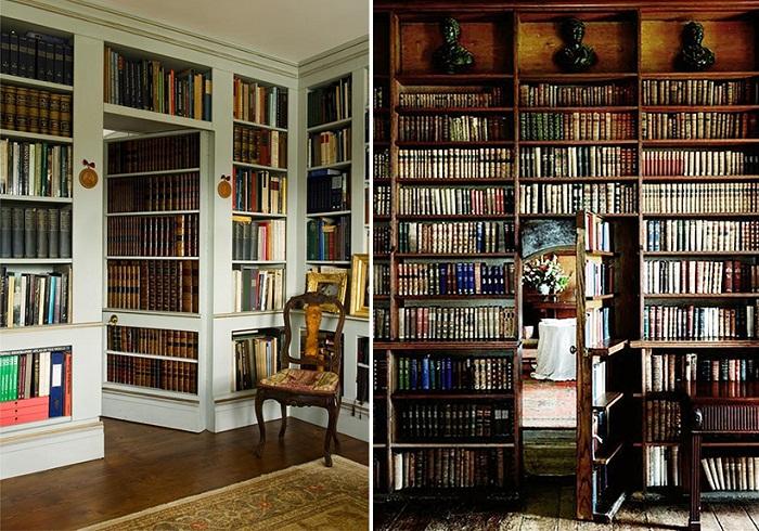Книжный шкаф - как пример классического оформления входа в тайную комнату.