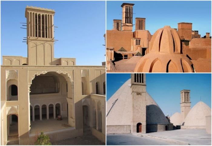 «Улавливатели ветра» имеют свою оригинальную форму и конструкцию. | Фото: sanaei.livejournal.com.