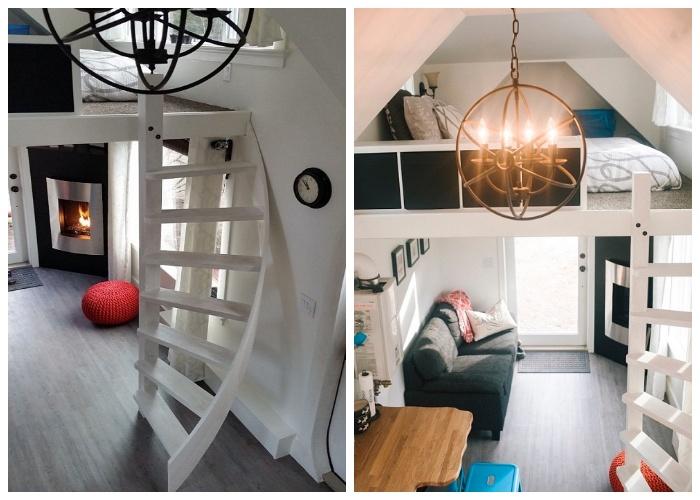 Даже крошечное пространство получится превратить в роскошный дом. | Фото: pinterest.com