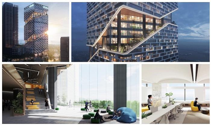 Строительство уникального небоскреба планируют закончить осенью 2025 г. (концепт NBBJ). | Фото: designboom.com/ archiposition.com.