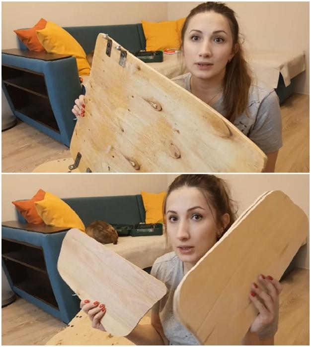 Для дальнейшего перевоплощения только деревянный каркас был взят за основу.