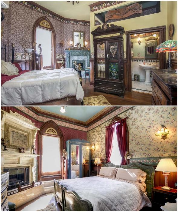 Спальные комнаты в отеле, который совсем недавно был епископальной церковью Святого Джона (Вентура, Калифорния).
