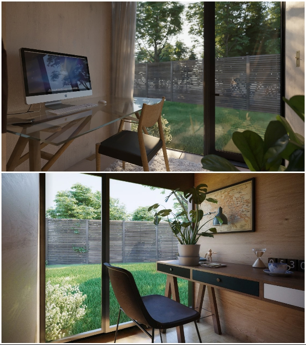 7 нестандартных проектов, позволяющих крошечный сарай превратить в домашний офис