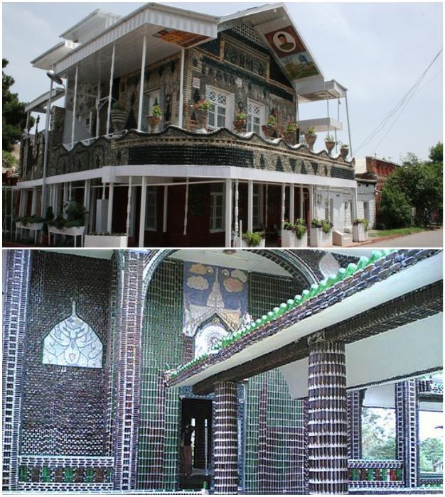 Современные мастера создают настоящие дворцы и даже храмы из стеклянных бутылок.