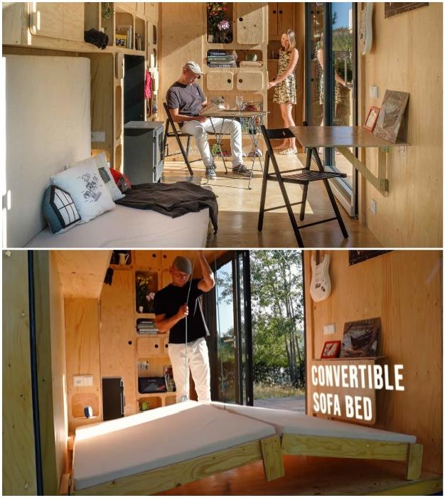 Мебель-трансформер – прекрасное решение для крошечных пространств (Gaia, проект Pin-Up Houses).