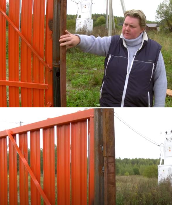Если толщина опоры ворот больше, лучше приварить профиль нужной толщины. | Фото: youtube.com/ © FORUMHOUSE.
