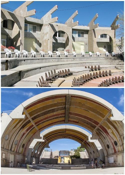 Уникальная архитектура общественных зданий (Arcosanti, США). | Фото: hi-tech.mail.ru.