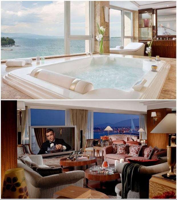 Роскошный пентхауз Royal President House в отеле President Wilson является самым большим отельным номером Европы.