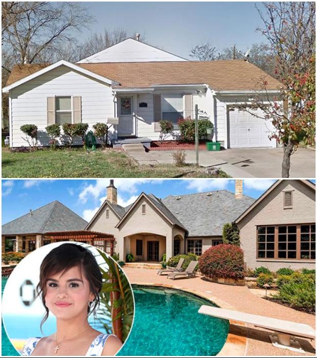 Скромный отчий дом Селены Гомес в Техасе и особняк, который строился по ее проекту.