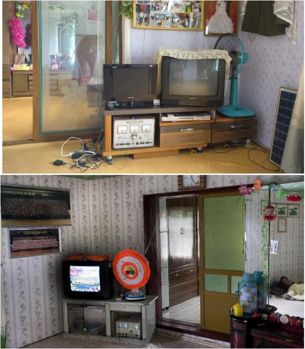 Наличие даже лампового телевизора с огромным кинескопом считается богатством. | Фото: zen.yandex.ru.