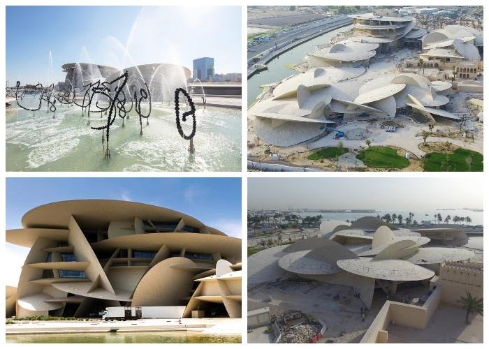 Уникальное архитектурное сооружение Национального музея Катара. | Фото: thearchitect.pro.