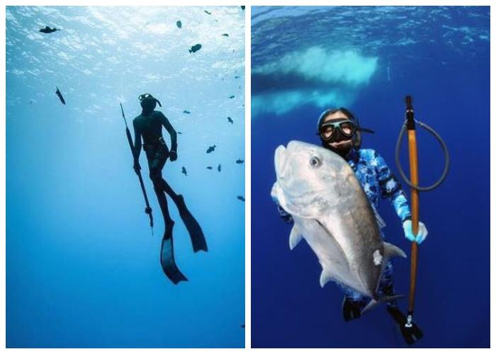 Подводная охота в глубинах океана сможет прокормить жителей поселений.
