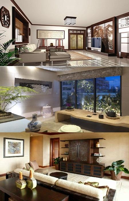 Максимум минимализма и функциональности, в сочетании с философией феншуй в интерьере китайских домов.